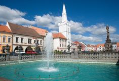 Town Kadan in Northern Bohemia, Czech republic. Square in the historic town Kadan in Northern Bohemia, Czech republic, Europe Stock Photo