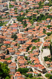 Town of Kalambaka view from Meteora rocks, Greece Stock Photography