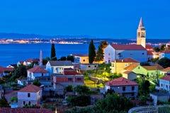 Town of Kali on Ugljan island evening view Stock Photography