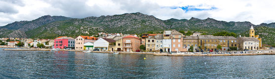 Town of Karlobag panoramic waterfront view Royalty Free Stock Photo