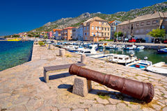 Town of Karlobag in Velebit channel panoramic view Royalty Free Stock Photos