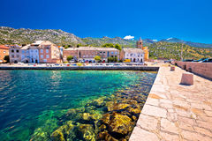 Town of Karlobag in Velebit channel waterfront view Royalty Free Stock Images