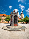 Town of Karlovac central square view. Central Croatia royalty free stock photos