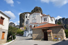 Town of Kastraki, Meteora mountains in Thessaly, Greece Royalty Free Stock Images