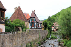 Town of Kaysersberg in Alsace Stock Photos