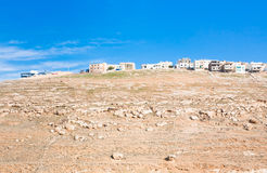Town Kerak on stone hill, Jordan - 2 Stock Photo