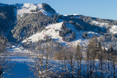 Town of Kitzbuhel in winter Royalty Free Stock Photo