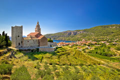 Town of Komiza on Vis island view Stock Images