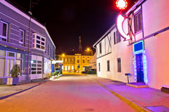 Town of Koprivnica center evening view Stock Photo