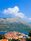 Town Korcula in Croatia. Abstact travel background Royalty Free Stock Image