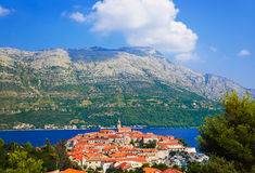 Town Korcula in Croatia Stock Photo