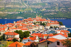 Town Korcula in Croatia royalty free stock image