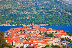 Town Korcula in Croatia Royalty Free Stock Images