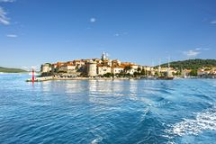Town Korcula at Croatia Royalty Free Stock Image