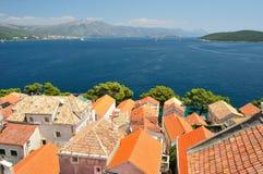 Town Korcula in island Korcula in Croatia Stock Image
