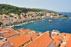 Town Korcula in island Korcula in Croatia Royalty Free Stock Photos