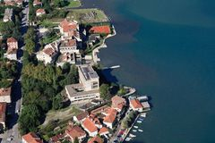 The town of Kotor, Montenegro. top view Royalty Free Stock Photo