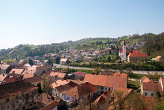 Town Krapina, Croatia. KRAPINA, CROATIA - March 30, 2014 - Town Krapina, Croatia Royalty Free Stock Photography