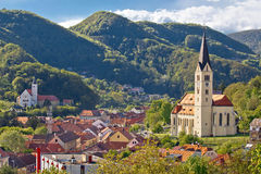 Town of Krapina panoramic view Stock Photo