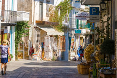 Town of Kritsa in Crete, Greece. Stock Images