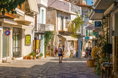 Town of Kritsa in Crete, Greece. Royalty Free Stock Images