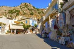 Town of Kritsa in Crete, Greece. Stock Image