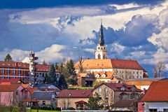 Town of Krizevci cathedral view Stock Images