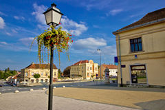 Town of Krizevci in Croatia. Main square and synagogue Royalty Free Stock Photos