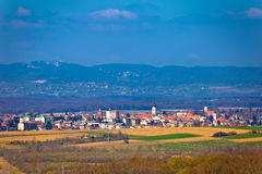 Town of Krizevci and Kalnik mountain Stock Images