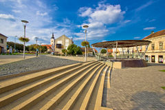 Town of Krizevci main square Stock Image