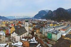 Town Kufstein i Österrike Arkivbilder