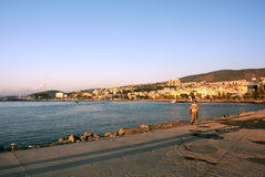 Town of Kusadasi at Sunset Stock Image
