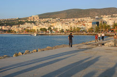 Town of Kusadasi in Turkey at Sunset Royalty Free Stock Photography