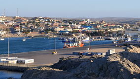 Town Lüderitz,Namibia. Lüderitz is a harbour town in south-west Namibia, lying on one of the least hospitable coasts in Africa Stock Photography