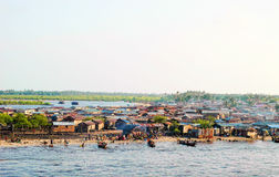 Town of lagos. Detail of lagos town in nigeria , west africa Stock Photo