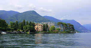 Town on lake Como, Milan, Italy Royalty Free Stock Images