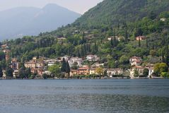 Town on Lake Garda Royalty Free Stock Images