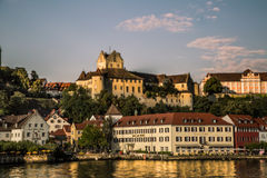 Town on the lake Royalty Free Stock Photography