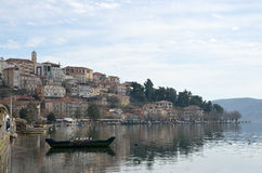 Town and lake Stock Photography
