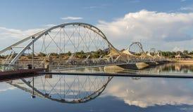 Town Lake Pedestrian Bridge royalty free stock photo