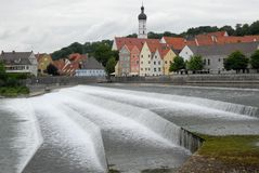 Town of Landsberg am Lech in Bavaria (Germany) Stock Photo