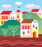Town landscape Royalty Free Stock Photo