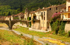 Town in Languedoc Rousillon Royalty Free Stock Images