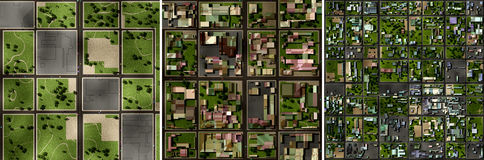 Town layout Stock Photo