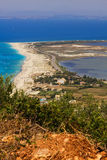 The town of Lefkada and Gyra beach Royalty Free Stock Images