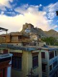 Town of Leh below Leh Palace in Leh India Stock Photo