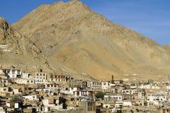 Town of Leh, capital of Ladakh Stock Image