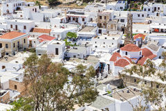 The town of Lindos in the Greek Royalty Free Stock Images