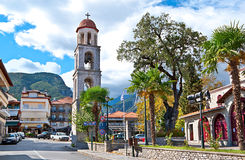 The town of Litochoro Stock Photo