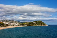 Town of Lloret de Mar on Costa Brava in Spain Royalty Free Stock Images